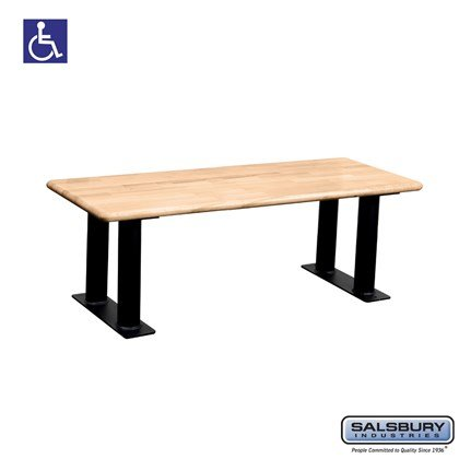 Salsbury Wood ADA Locker Bench - 48 Inches Wide - Light Finish