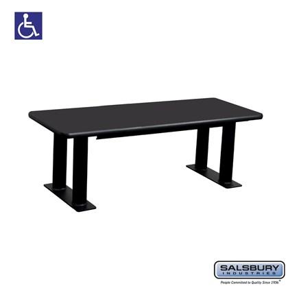 Salsbury Designer Wood ADA Locker Bench - 48 Inches Wide - Black