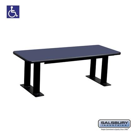 Salsbury Designer Wood ADA Locker Bench - 48 Inches Wide - Blue