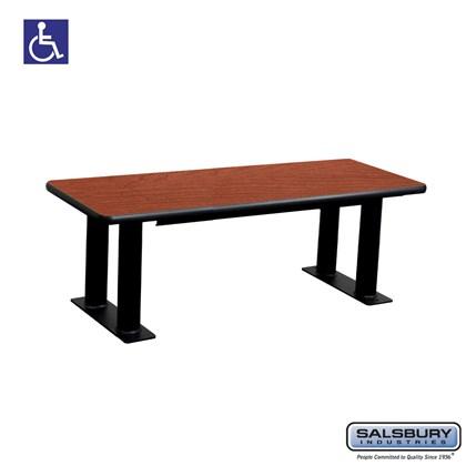 Salsbury Designer Wood ADA Locker Bench - 48 Inches Wide - Cherry