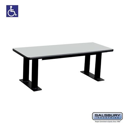 Salsbury Designer Wood ADA Locker Bench - 48 Inches Wide