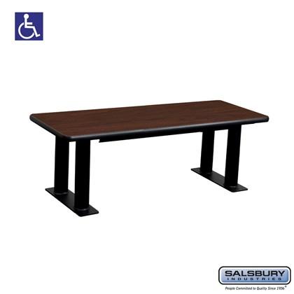 Salsbury Designer Wood ADA Locker Bench - 48 Inches Wide - Mahogany