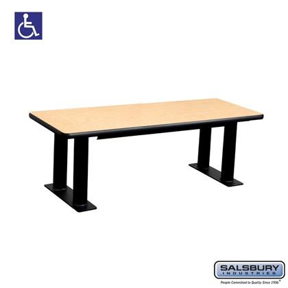 Salsbury Designer Wood ADA Locker Bench - 48 Inches Wide - Maple