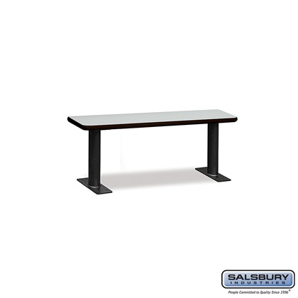 Designer Wood Locker Benches - 48 Inches Wide - Gray