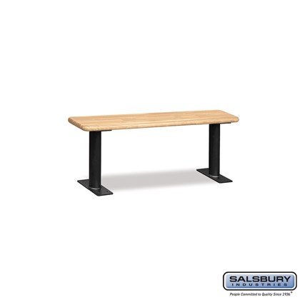 Wood Locker Bench - 48 Inches - Light Finish