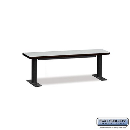 Designer Wood Locker Benches - 60 Inches Wide - Gray