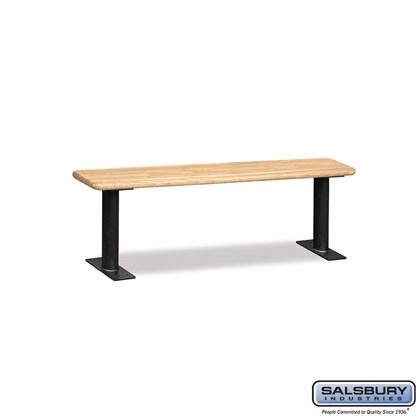 Wood Locker Bench - 60 Inches - Light Finish