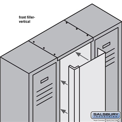 Front Filler - Vertical - 15 Inch Wide - for 6 Feet High Metal Locker