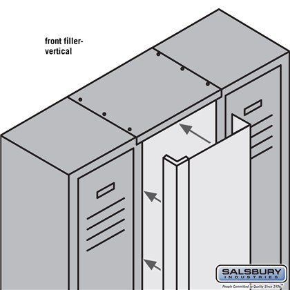 Front Filler - Vertical - 9 Inch Wide - for 6 Feet High Metal Locker