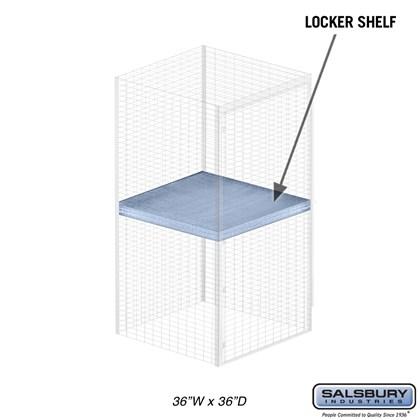 Shelf - for Bulk Storage Locker - 36 Inches Wide - 36 Inches Deep