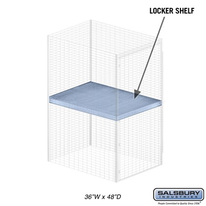 Shelf - for Bulk Storage Locker - 36 Inches Wide - 48 Inches Deep