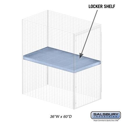 Shelf - for Bulk Storage Locker - 36 Inches Wide - 60 Inches Deep