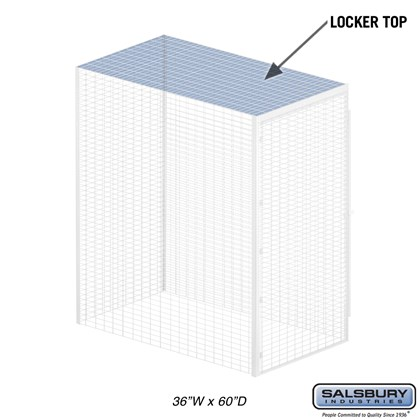 Top - for Bulk Storage Locker - 36 Inches Wide - 60 Inches Deep