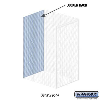 Back - for Bulk Storage Locker - 36 Inches Wide - 90 Inches High