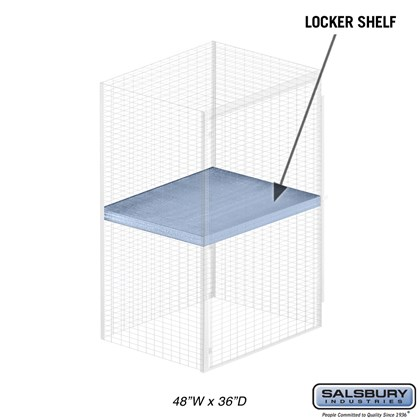 Shelf - for Bulk Storage Locker - 48 Inches Wide - 36 Inches Deep