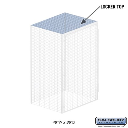 Top - for Bulk Storage Locker - 48 Inches Wide - 36 Inches Deep