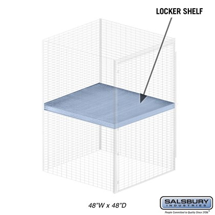 Shelf - for Bulk Storage Locker - 48 Inches Wide - 48 Inches Deep