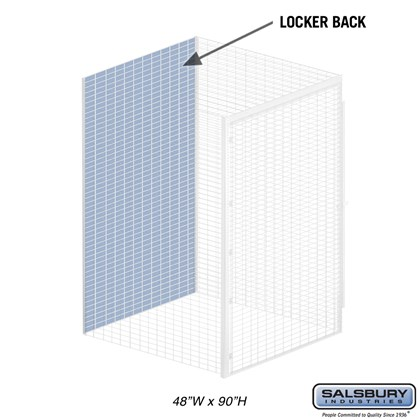 Back - for Bulk Storage Locker - 48 Inches Wide - 90 Inches High