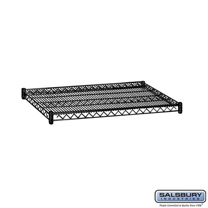 Additional Shelf - for Wire Shelving - 36 Inches Wide - 24 Inches Deep - Black