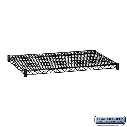 Additional Shelf - for Wire Shelving - 48 Inches Wide - 24 Inches Deep - Black