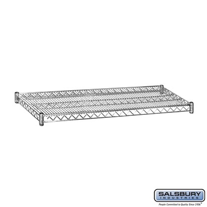 Additional Shelf - for Wire Shelving - 48 Inches Wide - 18 Inches Deep - Chrome