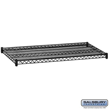 Additional Shelf - for Wire Shelving - 60 Inches Wide - 24 Inches Deep - Black
