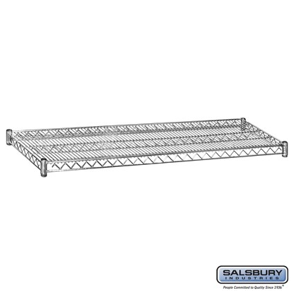 Additional Shelf - for Wire Shelving - 60 Inches Wide - 18 Inches Deep - Chrome