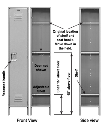 ADA Compliant Single Tier Metal Locker